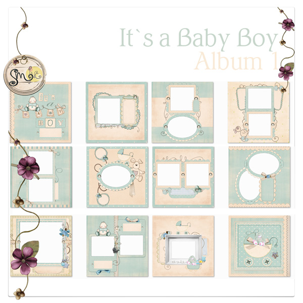 Photo Book Template: It`s a Baby Boy - Quick Album - photobooks.pro