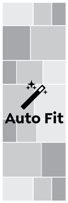 Auto Fit, Triple Square Portrait