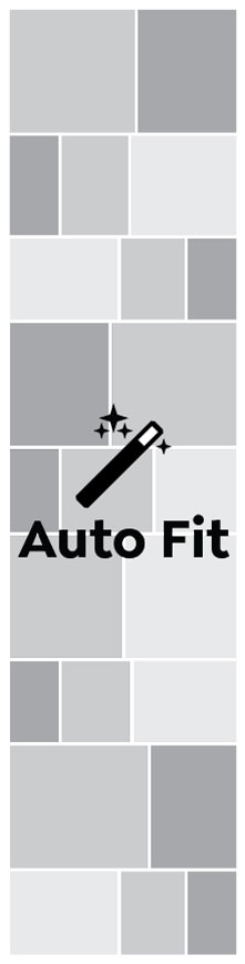 Auto Fit, Quadruple Square Portrait