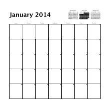 simple grid square calendar 2014pdf 1