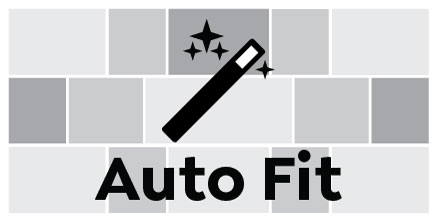 Auto Fit, Full Spread Square